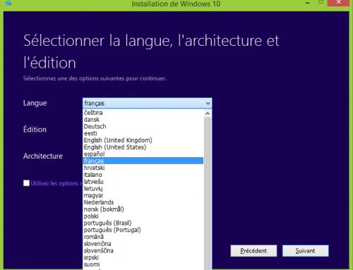 Comment changer la langue de Windows 10